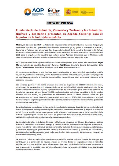 Agenda Sectorial de la Industria Química y del Refino