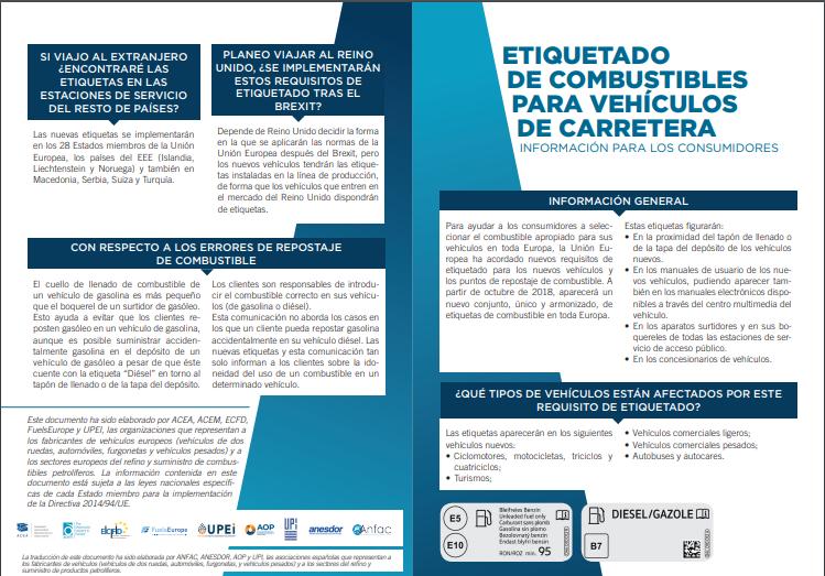 Etiquetado de combustibles: información para los consumidores